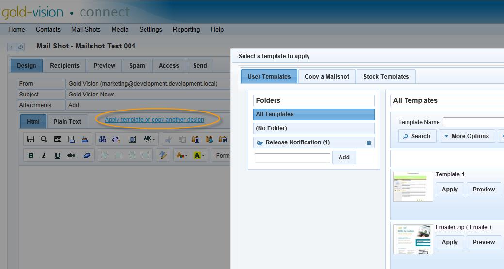 mailshot templates